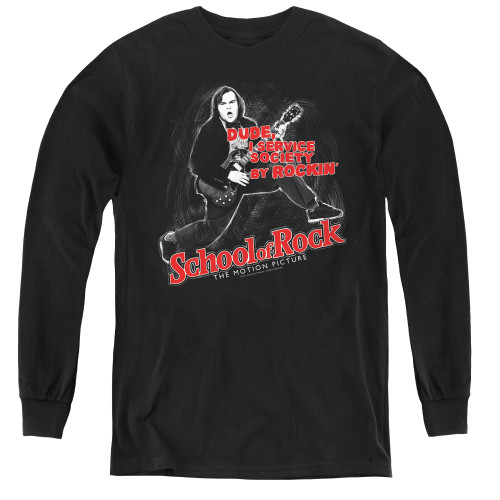 Image for School of Rock Youth Long Sleeve T-Shirt - Rockin'
