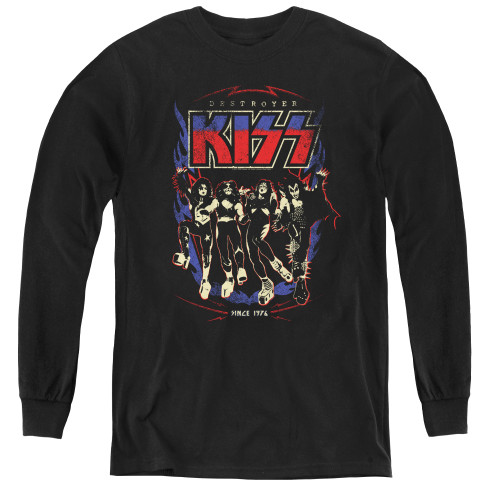 Image for Kiss Youth Long Sleeve T-Shirt - Destroyer