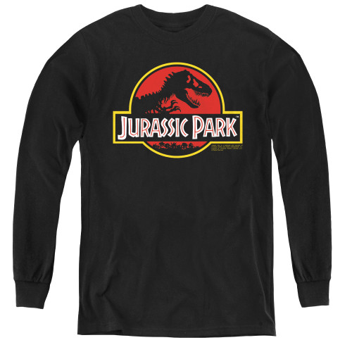 Image for Jurassic Park Youth Long Sleeve T-Shirt - Classic Logo