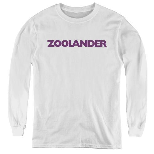 Image for Zoolander Youth Long Sleeve T-Shirt - Logo