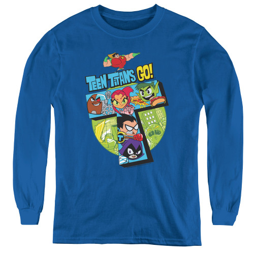 Image for Teen Titans Go! Youth Long Sleeve T-Shirt - Big T