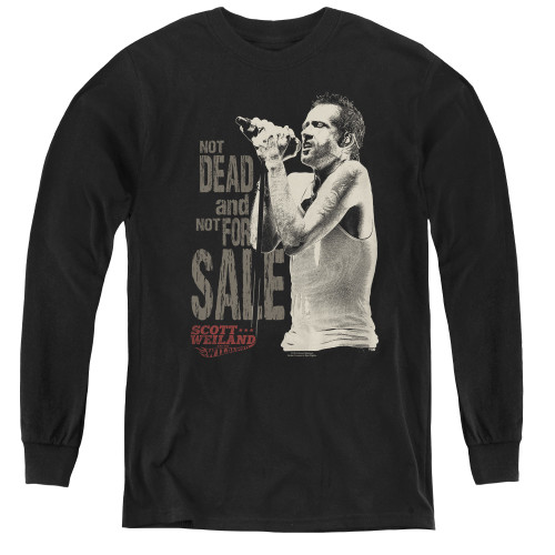 Image for Scott Weiland Youth Long Sleeve T-Shirt - Not Dead