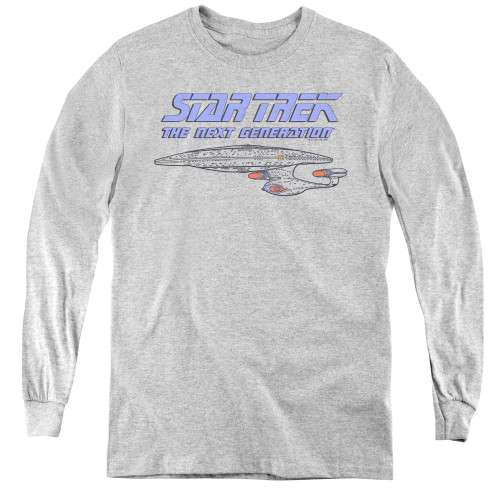 Image for Star Trek the Next Generation Youth Long Sleeve T-Shirt - Distressed