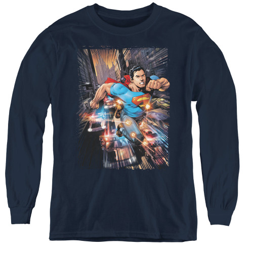 Image for Superman Youth Long Sleeve T-Shirt - Action Comics #1