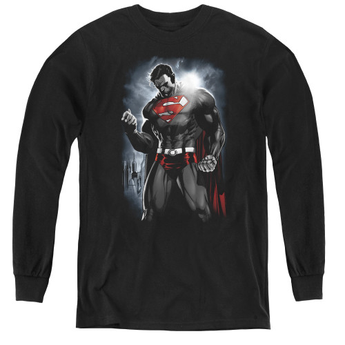 Image for Superman Youth Long Sleeve T-Shirt - Light Of The Sun