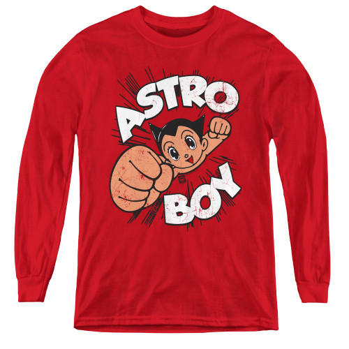 Image for Astro Boy Youth Long Sleeve T-Shirt - Flying