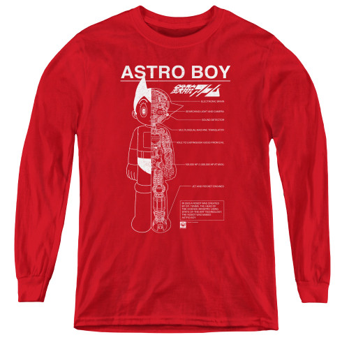 Image for Astro Boy Youth Long Sleeve T-Shirt - Schematics
