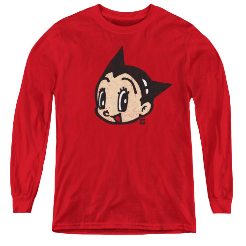Image for Astro Boy Youth Long Sleeve T-Shirt - Face