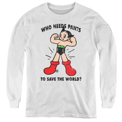 Image for Astro Boy Youth Long Sleeve T-Shirt - Who Needs Parts