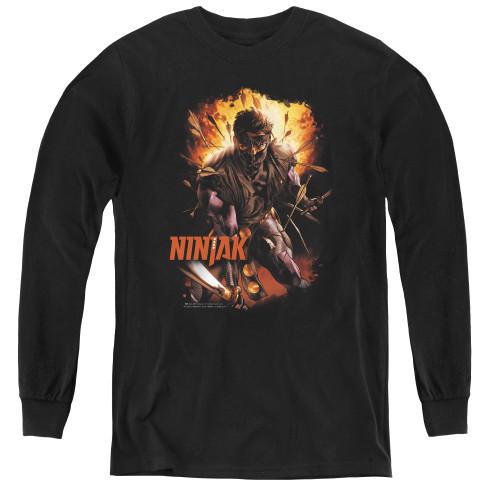 Image for Ninjak Youth Long Sleeve T-Shirt - Fiery