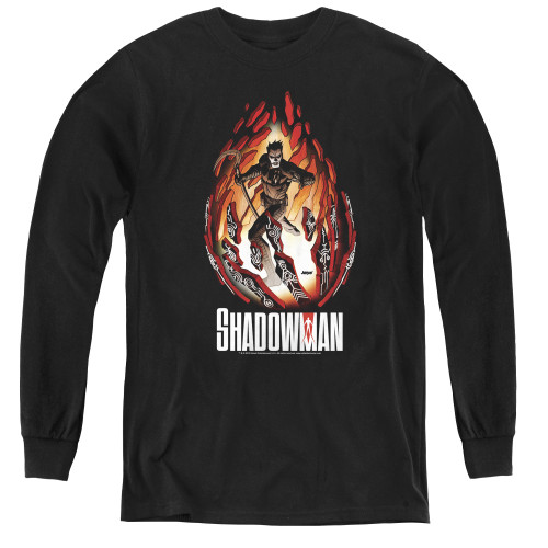 Image for Shadowman Youth Long Sleeve T-Shirt - Burst