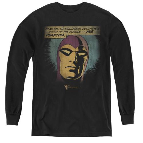 Image for The Phantom Youth Long Sleeve T-Shirt - Evildoers Beware