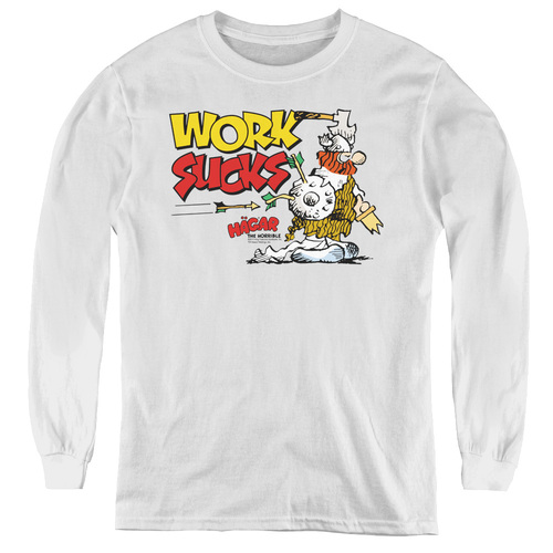 Image for Hagar The Horrible Youth Long Sleeve T-Shirt - Work Sucks