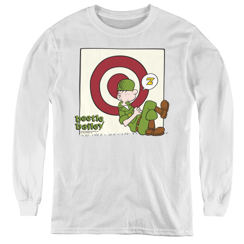 Image for Beetle Bailey Youth Long Sleeve T-Shirt - Target Nap