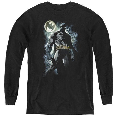 Image for Batman Youth Long Sleeve T-Shirt - The Knight