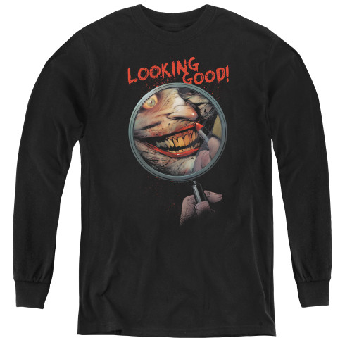 Image for Batman Youth Long Sleeve T-Shirt - Looking Good