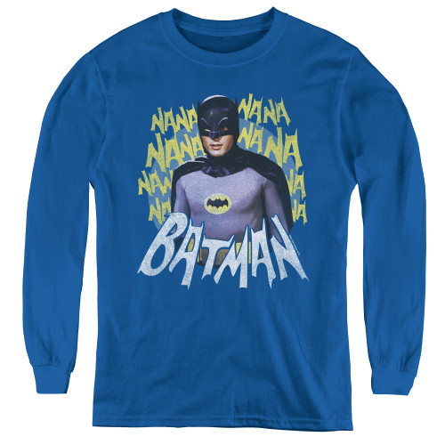 Image for Batman Classic TV Youth Long Sleeve T-Shirt - Theme Song