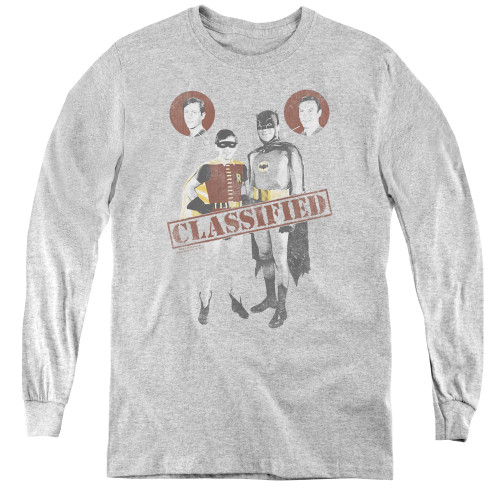 Image for Batman Classic TV Youth Long Sleeve T-Shirt - Classified