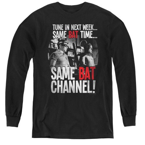 Image for Batman Classic TV Youth Long Sleeve T-Shirt - Bat Channel