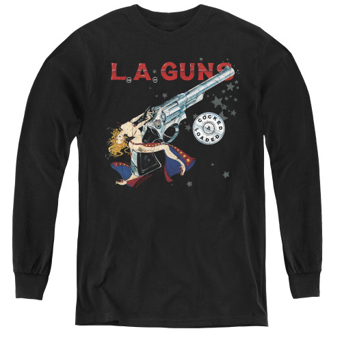 Image for LA Guns Youth Long Sleeve T-Shirt - Cocked and Loaded