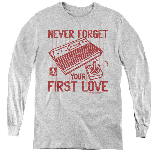 Image for Atari Youth Long Sleeve T-Shirt - Never Forget Your First Love