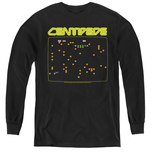 Image for Atari Youth Long Sleeve T-Shirt - Centipede Screen