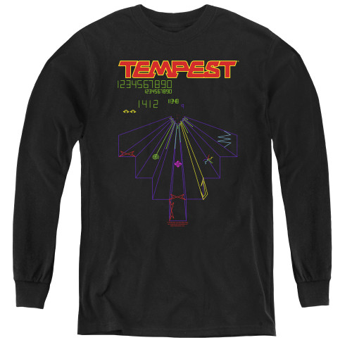 Image for Atari Youth Long Sleeve T-Shirt - Tempest Screen