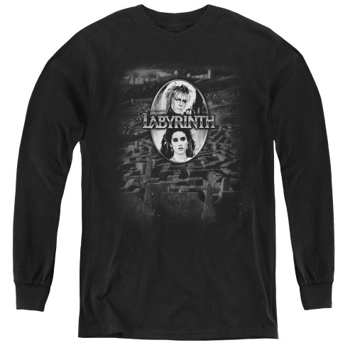 Image for Labyrinth Youth Long Sleeve T-Shirt - Maze