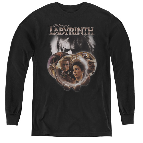 Image for Labyrinth Youth Long Sleeve T-Shirt - Globes