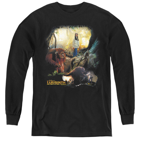 Image for Labyrinth Youth Long Sleeve T-Shirt - Sarah & Ludo