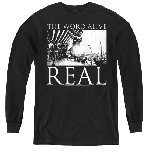 Image for The Word Alive Youth Long Sleeve T-Shirt - Live Shot