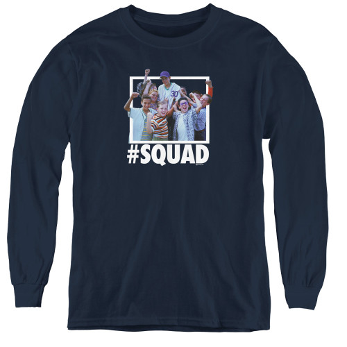 Image for The Sandlot Youth Long Sleeve T-Shirt - #Squad