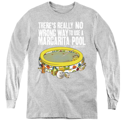 Image for Last Man on Earth Youth Long Sleeve T-Shirt - There's No Wrong Way to Use a Margarita Pool