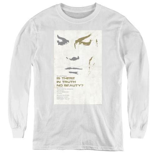 Image for Star Trek Juan Ortiz Episode Poster Youth Long Sleeve T-Shirt - Ep. 60 Is There In Truth No Beauty