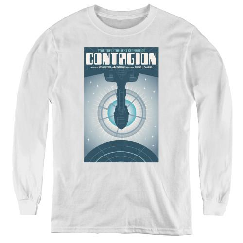 Image for Star Trek the Next Generation Juan Ortiz Episode Poster Youth Long Sleeve T-Shirt - Season 2 Ep. 11 Contagion