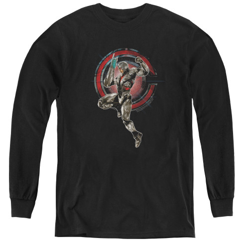 Image for Justice League Movie Youth Long Sleeve T-Shirt - Cyborg