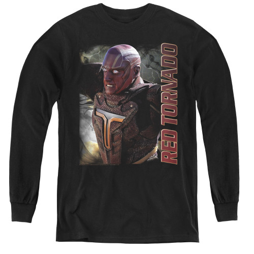 Image for Supergirl Youth Long Sleeve T-Shirt - Red Tornado