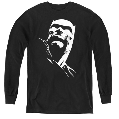 Image for Batman Youth Long Sleeve T-Shirt - Contrast Profile Head