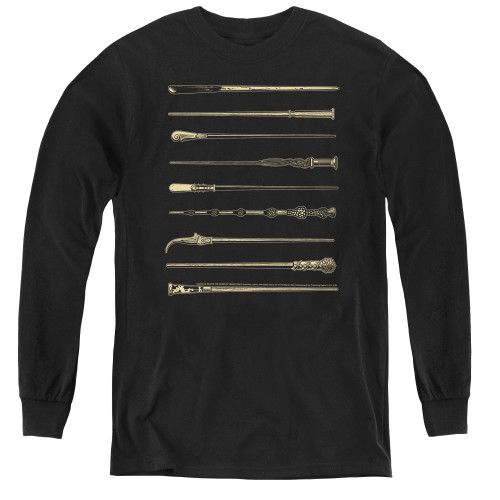 Image for Fantastic Beasts: the Crimes of Grindelwald Youth Long Sleeve T-Shirt - Wands