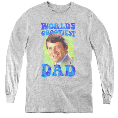 Image for The Brady Bunch Youth Long Sleeve T-Shirt - World's Grooviest