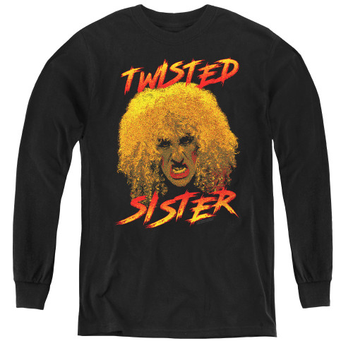 Image for Twisted Sister Youth Long Sleeve T-Shirt - Twisted Scream