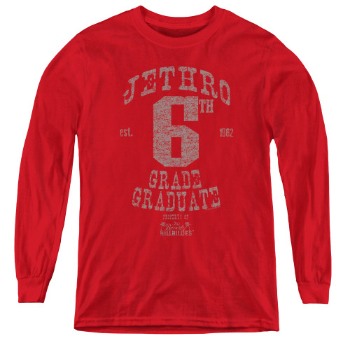 Image for The Beverly Hillbillies Youth Long Sleeve T-Shirt - Mr. 6th Grade Grad