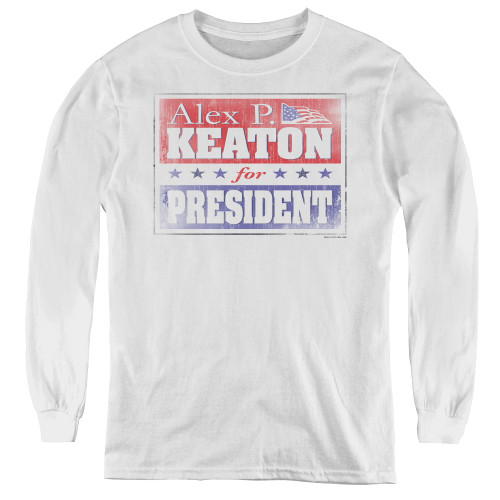 Image for Family Ties Youth Long Sleeve T-Shirt - Alex for President