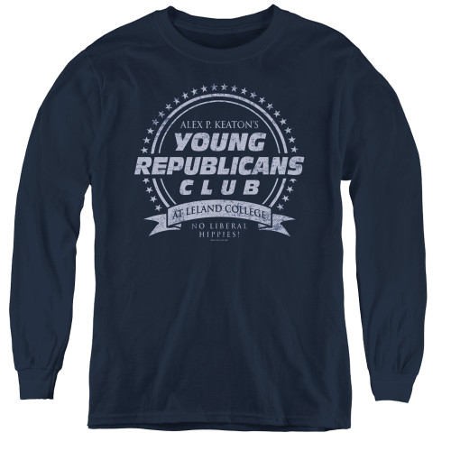 Image for Family Ties Youth Long Sleeve T-Shirt - Young Republicans Club