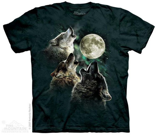 Image for The Mountain T-Shirt - Three Wolf Moon
