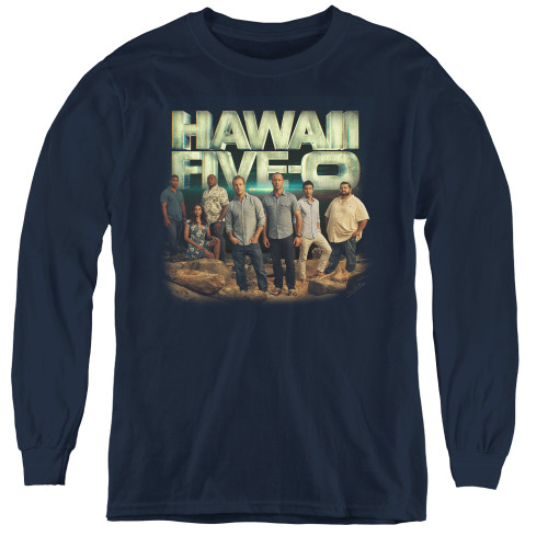 Image for Hawaii Five-0 Youth Long Sleeve T-Shirt - Cast