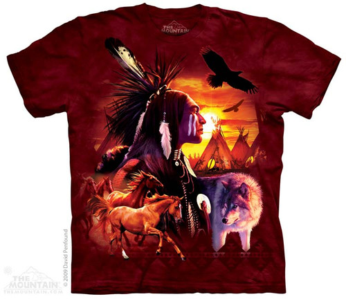 Image for The Mountain T-Shirt - Indian Collage