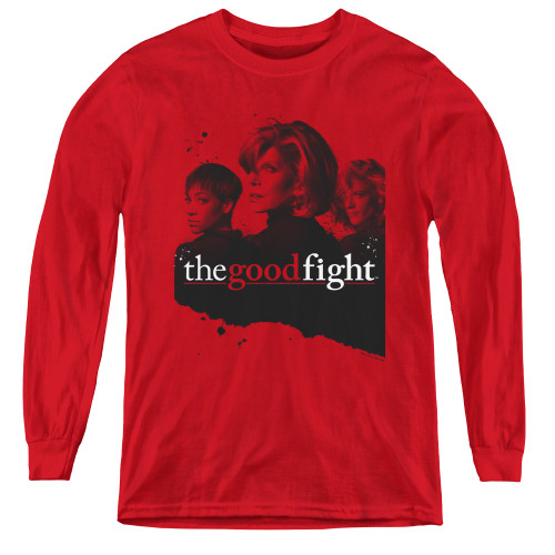 Image for The Good Fight Youth Long Sleeve T-Shirt - Diane Lucca Maia