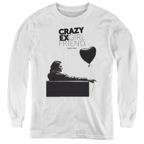 Image for Crazy Ex-Girlfriend Youth Long Sleeve T-Shirt - Crazy Mad