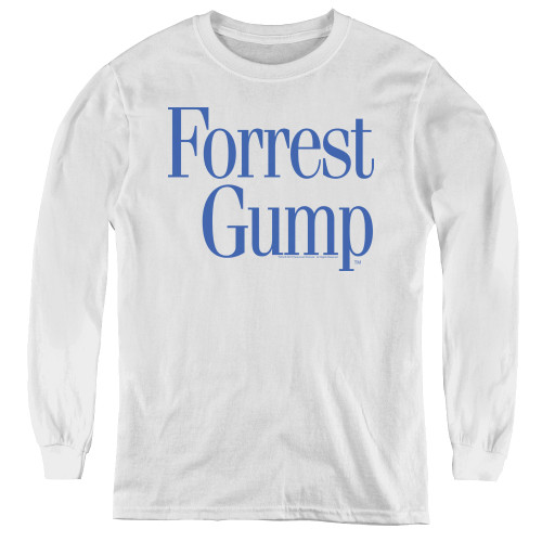 Image for Forrest Gump Youth Long Sleeve T-Shirt - Logo